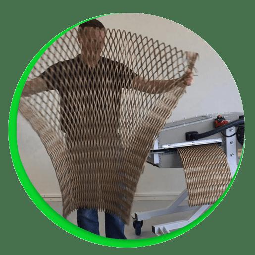 Ersätter eller kompletterar luftkuddar, packchips, bubbelplast